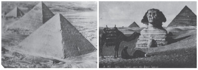 The great Pyramids and the Sphinx